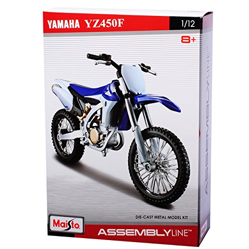 Maisto Yamaha YZ-450F Enduro Blau Bausatz Kit 1/12 Modell Motorrad Modell Auto