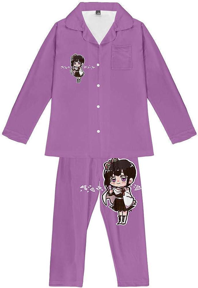 Unisex Anime Demon Slayer Kochou Conjunto De Pijamas para ...