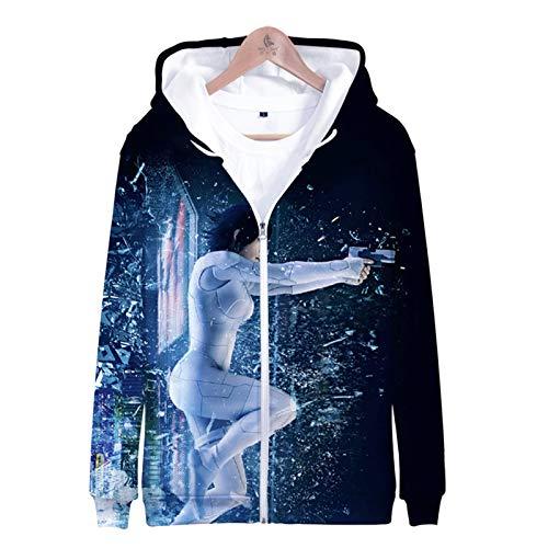 IUYITY-Ghost Attack Machine-Unisex 3D Sweater,Children Boys/Girls Casual Hoodies Men's Fashion Terylene Jacket-XXXL