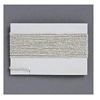正絹紐 絹100% 数珠 中通し パーツ 1.0mm 1m (銀)