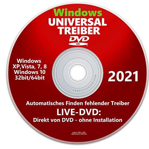 2021 - WINDOWS XP BIS 10 UNIVERSAL TREIBER CD DVD FÜR COMPUTER LAPTOP NOTEBOOK - NEU-