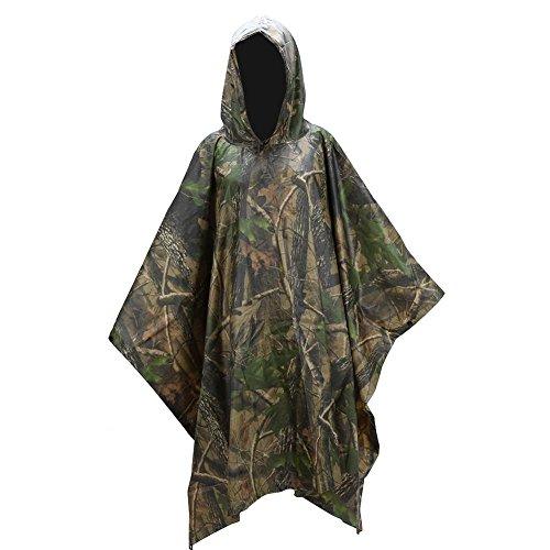 Waterdichte Poncho Camping Hooded Ripstop PVC Volwassenen Regenjas Marpat Woodland Camouflage Outdoor Jacht Vissen met Bijpassende Tas