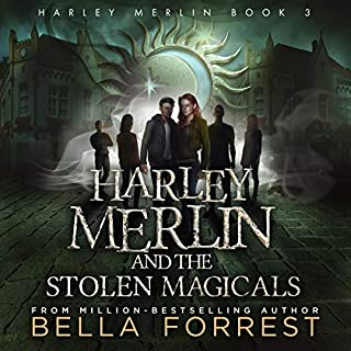 Harley Merlin 3: Harley Merlin and the Stolen Magicals                   By:                                                                                                                                 Bella Forrest                               Narrated by:                                                                                                                                 Amanda Ronconi                      Length: 12 hrs and 3 mins     54 ratings     Overall 4.8