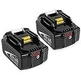 Dosctt 2X BL1860B 5.5Ah Reemplazo para Makita 18V Batería BL1860 BL1850 BL1850B BL1830 BL1830B BL1840 BL1815 BL1825 BL1835 BL1845 LXT400 con indicador