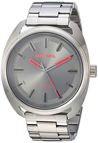 Diesel Relógio masculino de quartzo Fastback com pulseira de aço inoxidável, cinza, 24 (modelo: DZ1855)