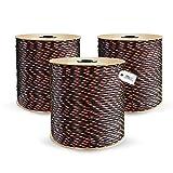 DQ-PP Cuerda de Polipropileno | Negro | Longitud 100 metros | Grosor 8 milímetros | Rollo de Soga | 100% natural | multiusos | Cuerda de Amarre