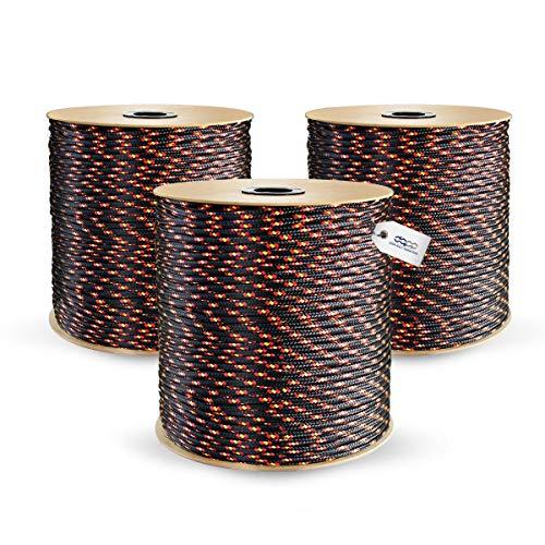 30m POLYPROPYLENSEIL 3mm SCHWARZ Polypropylen Seil Tauwerk PP Flechtleine Textilseil Reepschnur Leine Schnur Festmacher Rope Kunststoffseil Polyseil geflochten