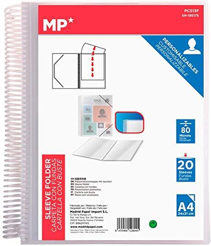 Carpetas Plastico A4 Con Gomas Marca MP