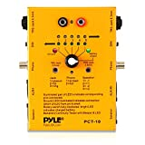8 Plug Audio Cable Tester - 8 In 1 Pro Audio Cable Tester Music Instrument/Studio Equipment Cable Connector Continuity Checker/Line Finder/Wire Tracker W/6 Way Switch, Led Light - Pyle Pro PCT10