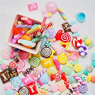 Lanyani 30 pcs Slime Charms,Assorted Candy Sweets Slime Beads Stuff, Resin Embellishments for Crafts