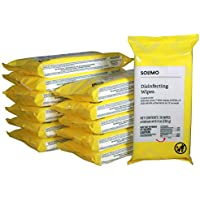 12-Pack Solimo Disinfecting Wipes On-The-Go, 432 Count
