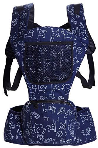 0-48m Portador de bebé ergonómico, Kangaroo Baby Wrap Sling para Viajes de bebé, Multifuncional recién Nacido Actividad de bebé Mochilas Transportes con Cadera,Blue 2