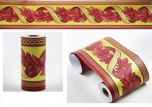 Papel pintado para cocina, autoadhesivo, para habitación de los niños, diseño de vid roja, impermeable, 10 x 900 cm