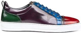 DIS Pietro Sneaker Bassa in Pelle Spazzolata Multicolore