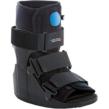 United Ortho Short Air Cam Walker Fracture Boot, Large, Black