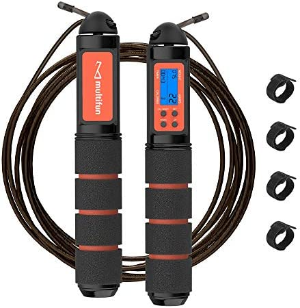 Jump Rope Multifun Speed Skipping Rope with Calorie Counter and Memory Foam Handles Tangle Free product image