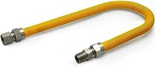 Flextron FTGC-YC12-30P 76 cm elastyczne złącze przewodu gazowego pokryte epoksydową o średnicy zewnętrznej 1,5 cm i złączk...