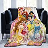 """Princess Blanket, Cute Princess Throw Blanket Fuzzy Soft Cozy Flannel Fleece Throw Blanket for Little Girls Women Gift to Daughter Baby Girl Princess Party Favors, 60""""x50"""""""