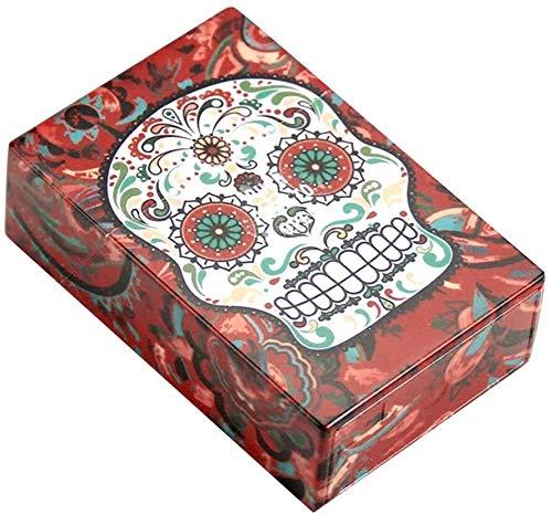 NoLogo Caja de Cigarrillos Personalizada Caja de Cigarrillos de plástico con Calavera Creativa Caja de Cigarrillos con Tapa automática Caja para 20 Cigarrillos con Capacidad para 20 Cigarrillos