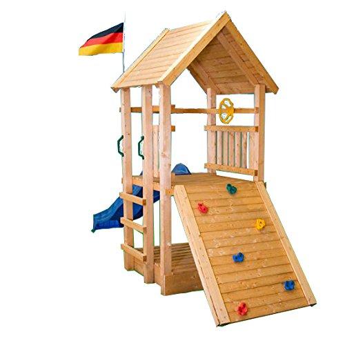 Kletterturm Holzturm Spielturm Kinder Sandkasten- (3366)