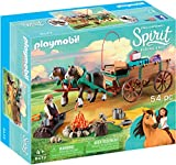Playmobil- DreamWorks Spirit Riding Free Giocattolo Padre di Lucky con Carro, Single, Multicolore, 9477
