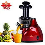 BMS LIFESTYLE Slow Masticating Juicer Makes Continuous Fresh Fruit and Vegetable Juice at 43 Revolutions per Minute Features Compact Design Automatic Pulp Ejection, 150-Watt, Silver