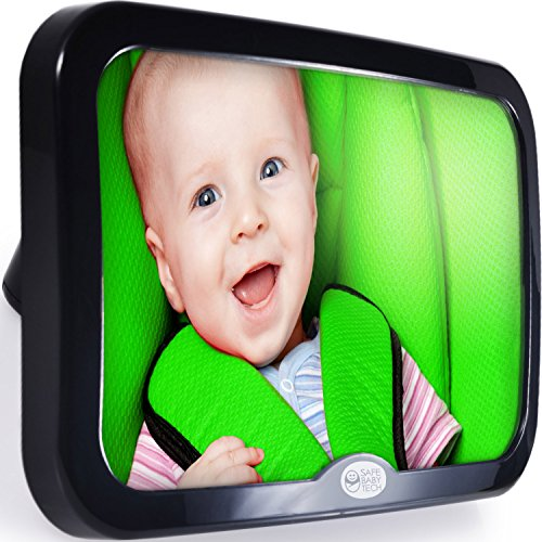 Image of Safe Baby Tech Baby Car Mirror, Crystal Clear Reflection