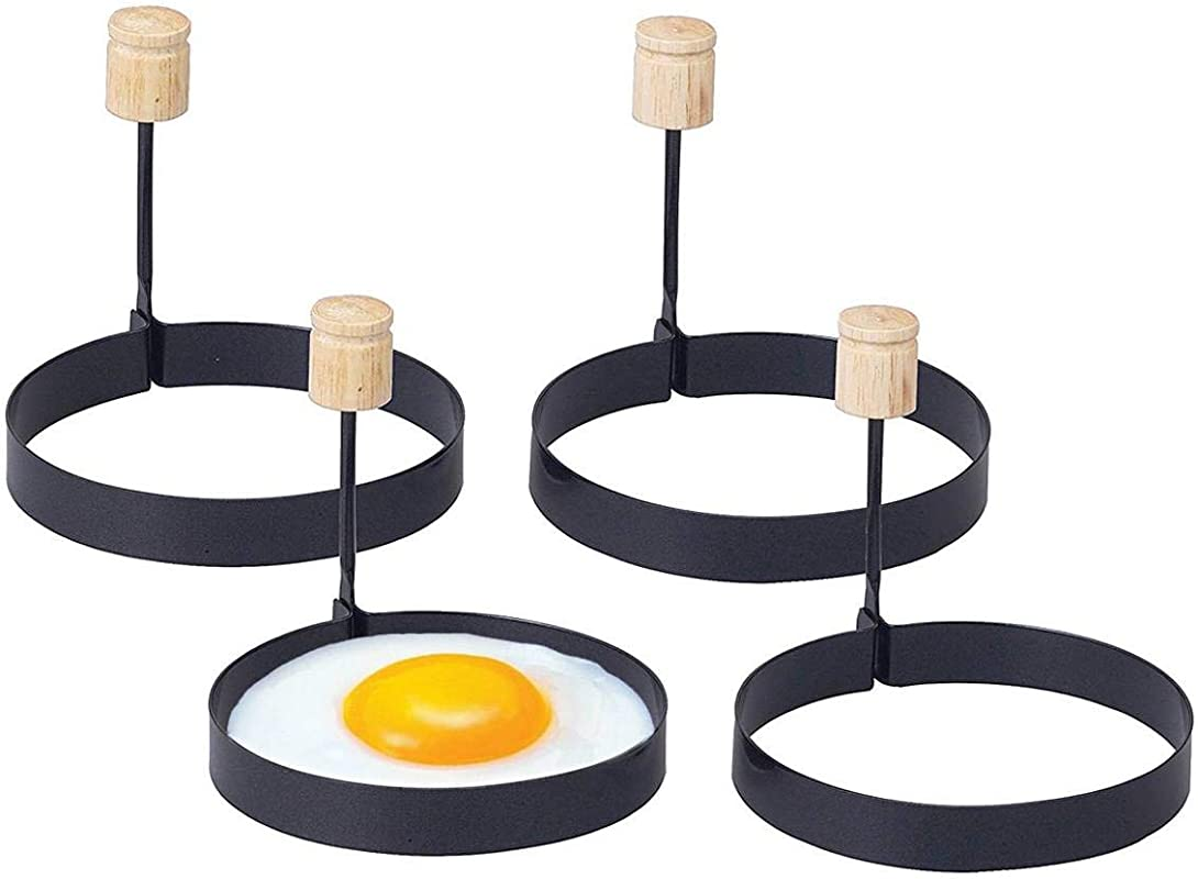 Happy Sales HSS ERH4 Non Stick Egg Ring Set Of 4