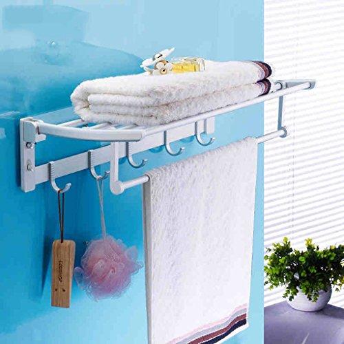 Espace Porte-serviettes en aluminium Porte-serviettes Toilettes Porte-serviettes Porte-serviettes/salle de bains (taille : 50cm)