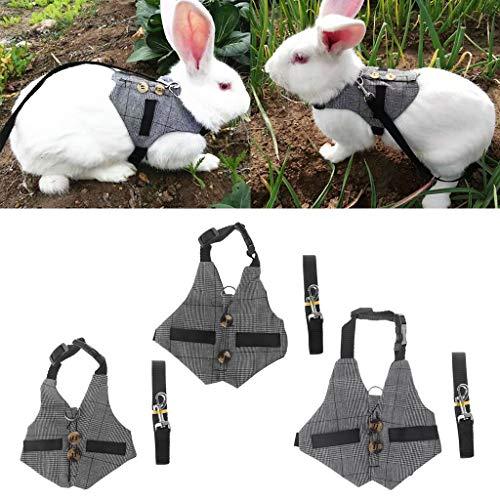 Arnés de conejo Biniwa, correa para mascotas pequeñas, multiusos, chaleco Chinchillas