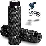 Clavijas para Pedales BMX Antideslizantes de aleación de Aluminio, Clavijas de Acrobacia BMX Clavijas de Bicicleta, Pedal de Bicicleta Apto para Ejes Delanteros o Traseros (Black)