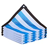 AWSAD Paño de Sombra Marquesinas Exterior Rayas Azules Y Blancas Toldo Jardin por Patio Invernadero Cochera Terraza Proteccion Solar (Color : A, Size : 2x3m)