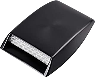 1X Custom Black Decorative Air Flow Intake Turbo Bonnet Hood Vent Grille Cover w/ 3M For Car SUV Pickup Truck
