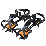 Walsilk Crampons Traction Cleats Spikes Snow Grips,Anti-Slip Stainless Steel...