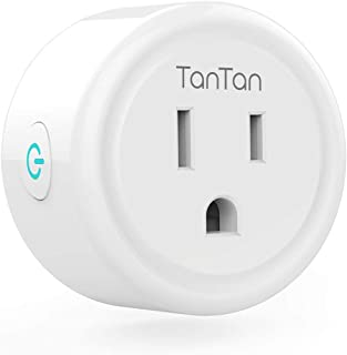 TanTan Smart Plug Work with Alexa and Google Home, TanTan WiFi Outlet Mini Socket Remote Control Only Supports 2.4GHz Network, ETL and FCC Listed