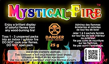 Mystical Fire Flame Colorant Vibrant Long-Lasting Pulsating Flame Color Changer for Indoor or Outdoor Use 0.882 oz Packets 2 Pack