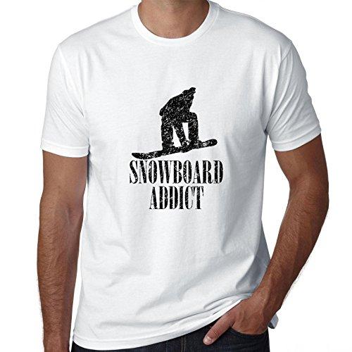 Snowboard Addict Trendy Silhouette Figuur T-shirt voor heren