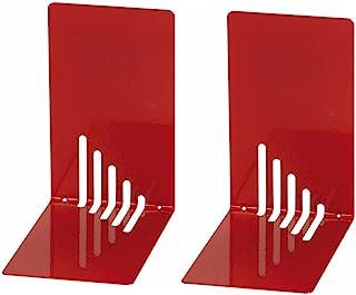 Wedo 1021002 Lot de 2 Serre-livres Rouge