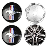 massage 4pcs 60mm Car Wheel Center Hub Caps Cubierta Central Emblema Insignia Cubierta A Prueba De Polvo, para Ford Mustang Shelby GT