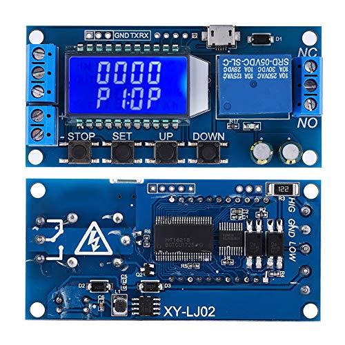 Evonecy Interruptor de retardo de Tiempo, módulo de relé de retardo Industrial Digital, Dentro de Dispositivos de 220 V 5 A para Dispositivos de 30 V 5 A