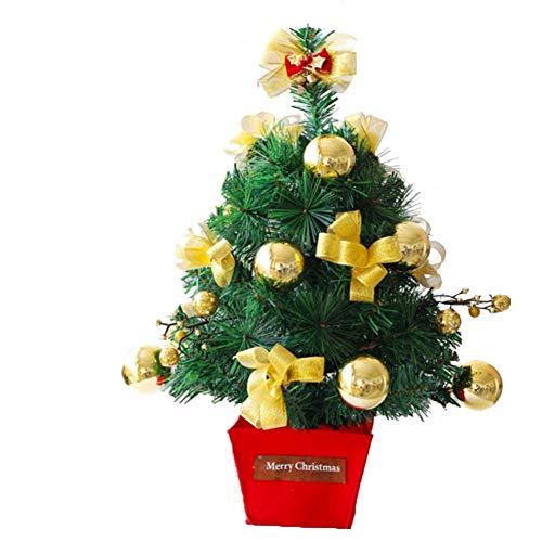 QPALZM Mini árbol De Navidad: árbol De Navidad Pequeño Hecho A Mano, Navidad, árbol De Decoración De Escritorio, para La Barra De Compras De La Oficina En Casa (Altura 45 Cm)(Color:Dorado)