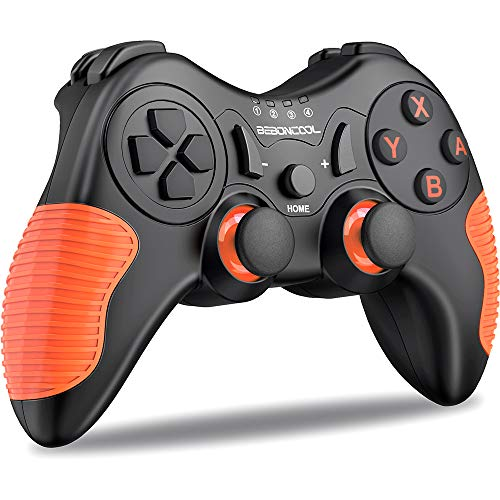 Pro Wireless Controller for Switch/Switch Lite, Wireless Controller Pro Switch with Motion &Dual Motor, Replacement Joysticks for Switch Controller (Orange)