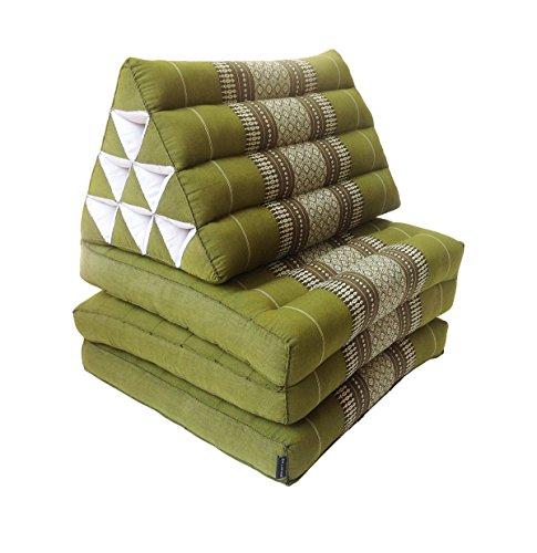 Colchón de meditación tailandés tradicional reclinable, con cojín de respaldo triangular de...