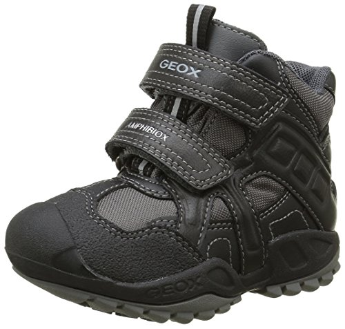 Geox Jungen J New Savage Boy B Abx A Boots, Grau (Grey/BLACKC0043), 35 EU