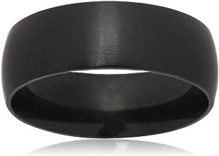 Mens Steel Black Ring US Size 10