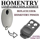 HOMENTRY PS94331 kompatibel handsender, ersatz sender, 433.92Mhz rolling code. Top Qualität ersatzgerät!!!