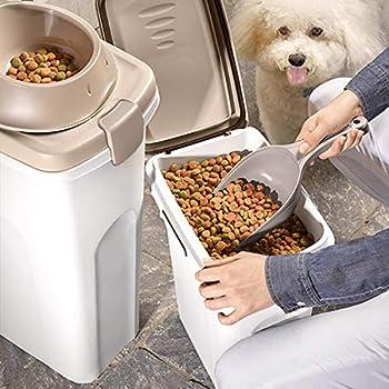 Stefanplast Conteneur Pet Food pour Chien Brun/Blanc 40 L