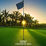 Golf Calendar 2021: January 2021 - December 2021 Square Photo Book Monthly Planner Calendar Gift For Golf Lover | Golfer Mom or Dad Present Idea For Men & Women