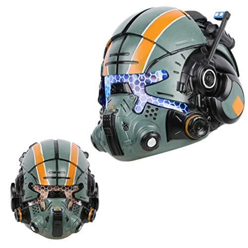 Cooper Helmet Deluxe Green Resin Glow Eyes Mask Halloween Cosplay Xcoser