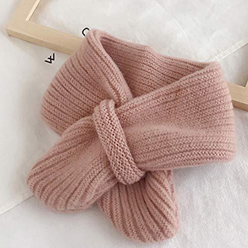 ZYQDRZ Cachecol infantil para outono e inverno, cachecol para meninos e meninas, gola grossa quente, cachecol infantil, presente, B, 7,568 cm